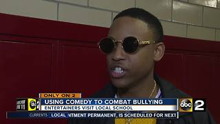 Entertainers using comedy to combat school bullying - Video