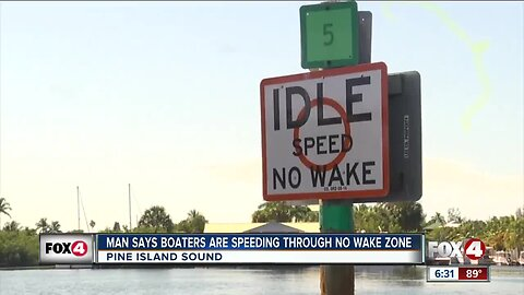 Man says boaters speed through no wake zones