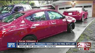 Tulsa couple: Tornado sends car 10 feet into air - Video