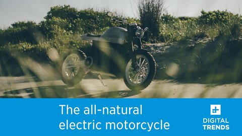 This electric motorcycle is made from natural and recyclable materials