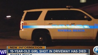 15-year-old girl shot in driveway has died - Video
