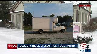 Truck stolen from Indianapolis food pantry - Video