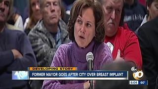Former mayor sues city over breast implants - Video