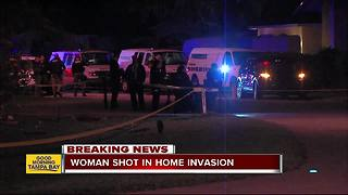 Woman shot during possible home invasion in Wesley Chapel - Video