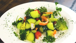 Cucumber Avocado Salad - Video