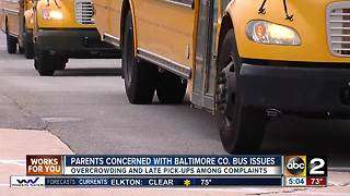 Parents list bus complaints in document and deliver to Baltimore Co. Board of Education - Video
