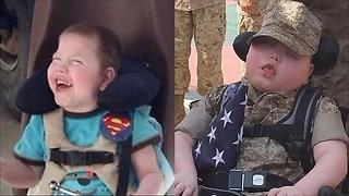 Boy With Rare Disease Named Honorary Marine - Video
