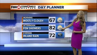 FORECAST: Few showers Wednesday afternoon