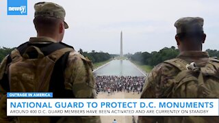Unarmed national guardsmen deployed to protect D.C. monuments