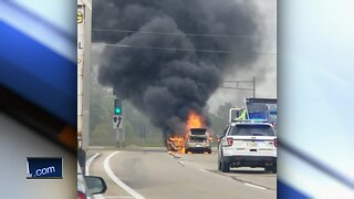 One person injured in Racine car fire