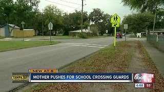 Local mom concerned about elementary school kids crossing street without guard