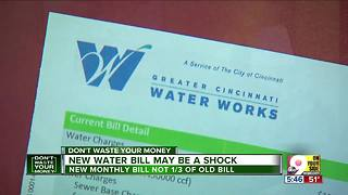 First monthly water bill may come as a shock