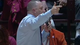 Virginia Tech Coach Buzz Williams YELLS at Fans for Cussing at Refs During Game vs Duke - Video