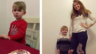 Adorable four-year-old has heartwarming 1/16th life crisis - Video