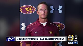 Mountain Pointe head coach speaks out after assistant was fired
