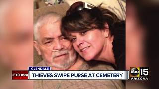 Grieving Glendale woman has purse stolen at cemetery - Video