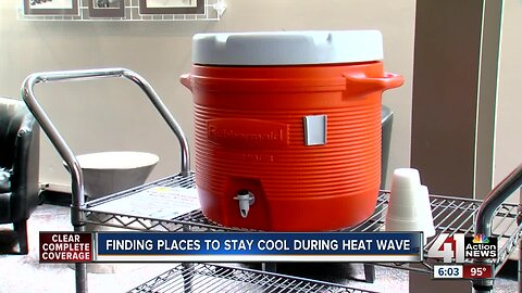Cooling centers set up around KC