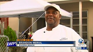 Evacuees from Bahamas served meal