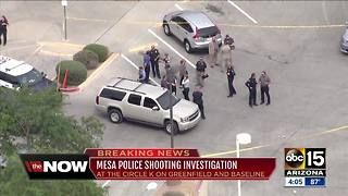 Mesa police involved in shooting near Greenfield and Baseline - Video