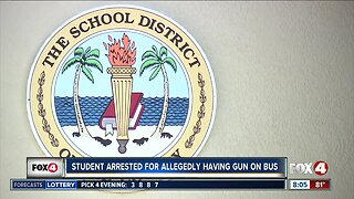 Student arrested for allegedly bringing a gun on the school bus