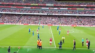 Pitch invader gets removed from ground during Emirates Cup match - Video