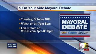 9 On Your Side Mayoral Debate is Tuesday night - Video