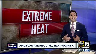 Excessive heat could delay flights from Sky Harbor - Video