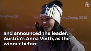NBC Announces Gold Medalist Early But Skier Pulls Off Huge Upset - Video