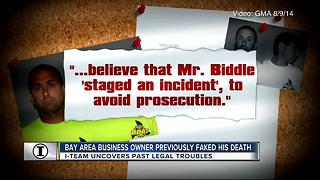 Bay area business owner previously faked his death - Video