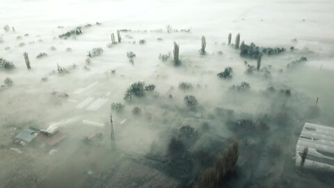 Drone over Macedonia shows devastation of factory pollution