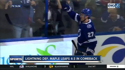 Tampa Bay Lightning erase 3-goal deficit, rally past Toronto Maple Leafs 4-3