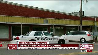 Muskogee Officer involved in shooting near 32nd Broadway - Video