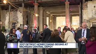 2017 Detroit Homecoming begins at Michigan Central Depot - Video