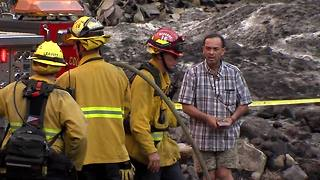 Video shows Holy Fire suspect talking to firefighters - Video