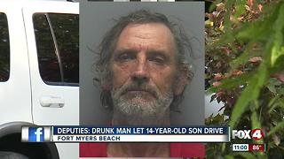 Dad arrested for having 14-year-old son designated driver - Video