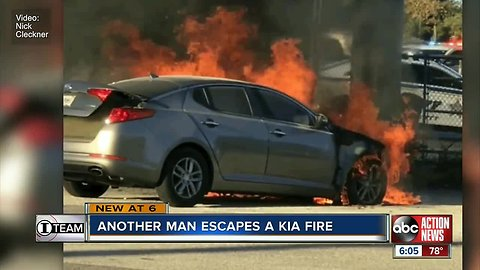 St. Petersburg man escaped burning Kia with seconds to spare