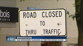 Construction almost done on Old Woodward Avenue in Birmingham - Video