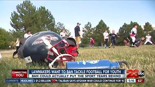 California lawmakers considering banning tackle football for kids - Video