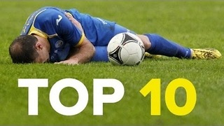 10 Ridiculous Football Injuries - Video