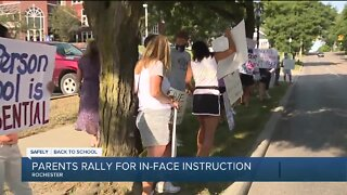 Parents rally for in-person instruction