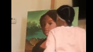 Dad Surprises Daughter With Portrait of Her as Mona Lisa