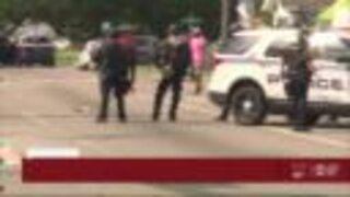 Chaotic moments arise after peaceful protest in Tampa