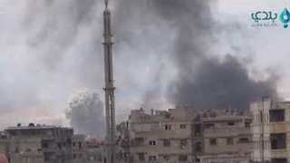 Syrian Regime Ramps Up Strikes on South Damascus Neighborhoods - Video