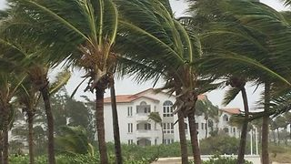 Hurricane Irma Lashes Providenciales With Strong Winds - Video
