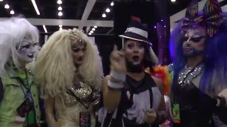 Fierce Queenz at DragCon with Roving Reporter Erickatoure Aviance - Video