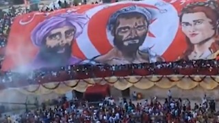 Tunisian Fans Gathered at Roman Amphitheater Celebrate Equalizer as Team Runs England Close - Video