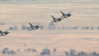 F-16s fly over Colorado for 4th of July