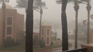 Monsoon Sweeps Through Scottsdale, Arizona - Video