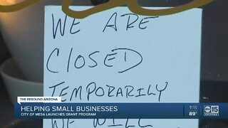 Mesa helping small businesses get back on their feet
