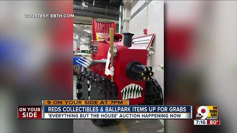 Reds collectibles, ballpark items up for sale